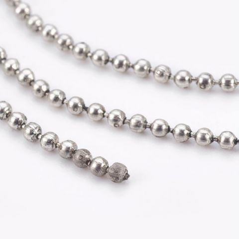 Ball Chain - Antique Silver  - 1.5mm - 1m